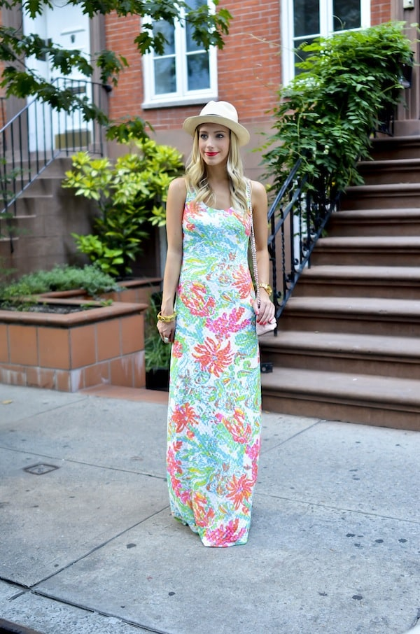 Lilly Pulitzer Floral Maxi Dress Katie S Bliss