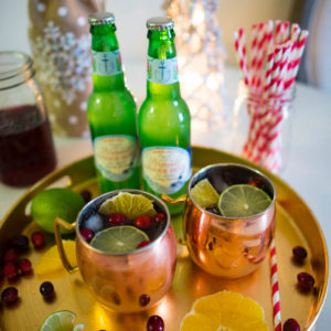 Holiday Cranberry Pomegranate Moscow Mule Recipe