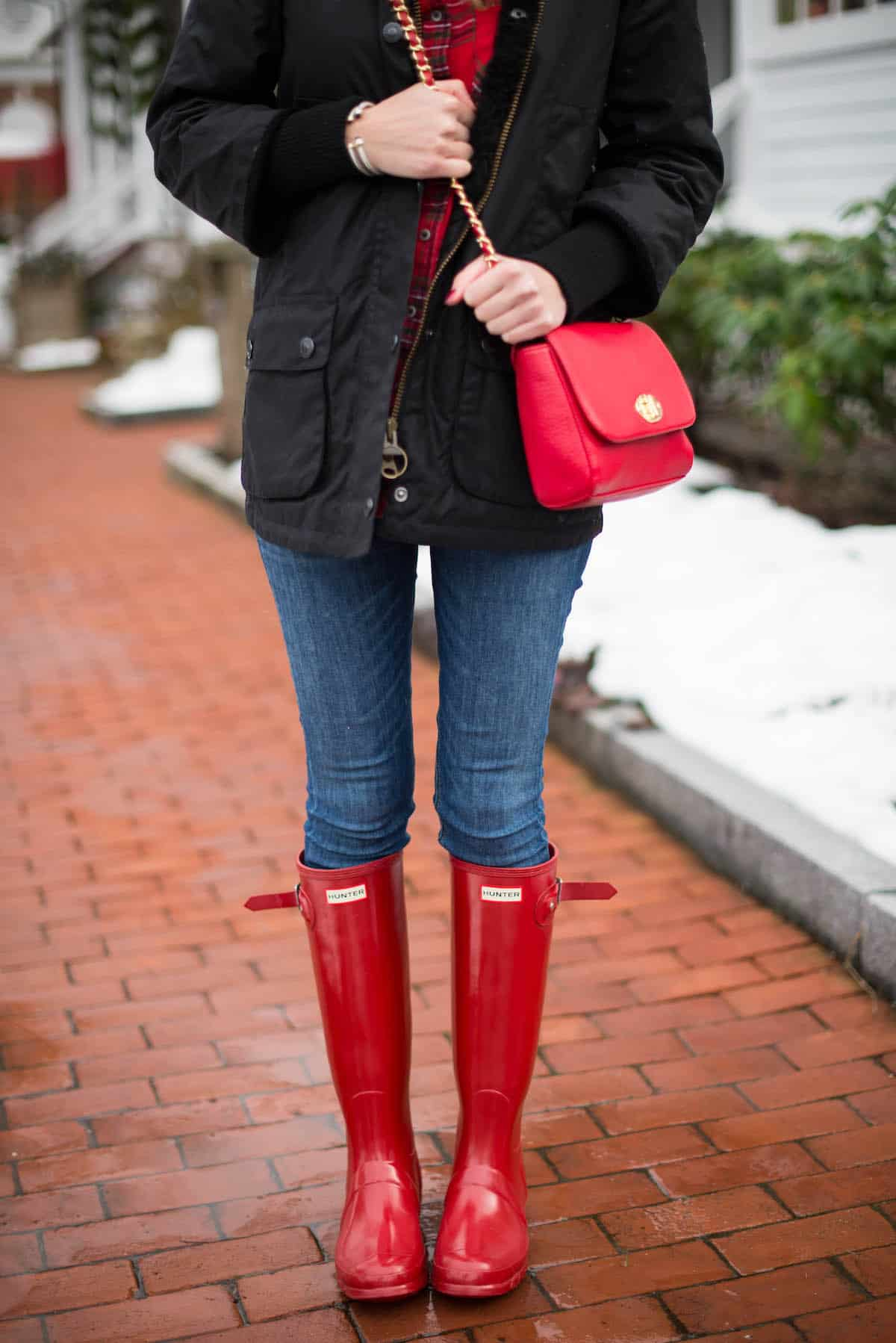 Tall Red Hunter Boots In The Berkshires Katie S Bliss