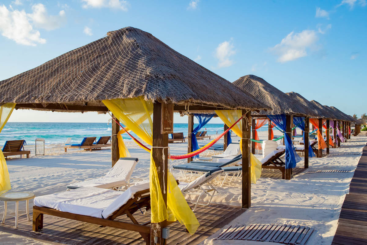 Cancun Cabanas On Beach The Best Beaches In World