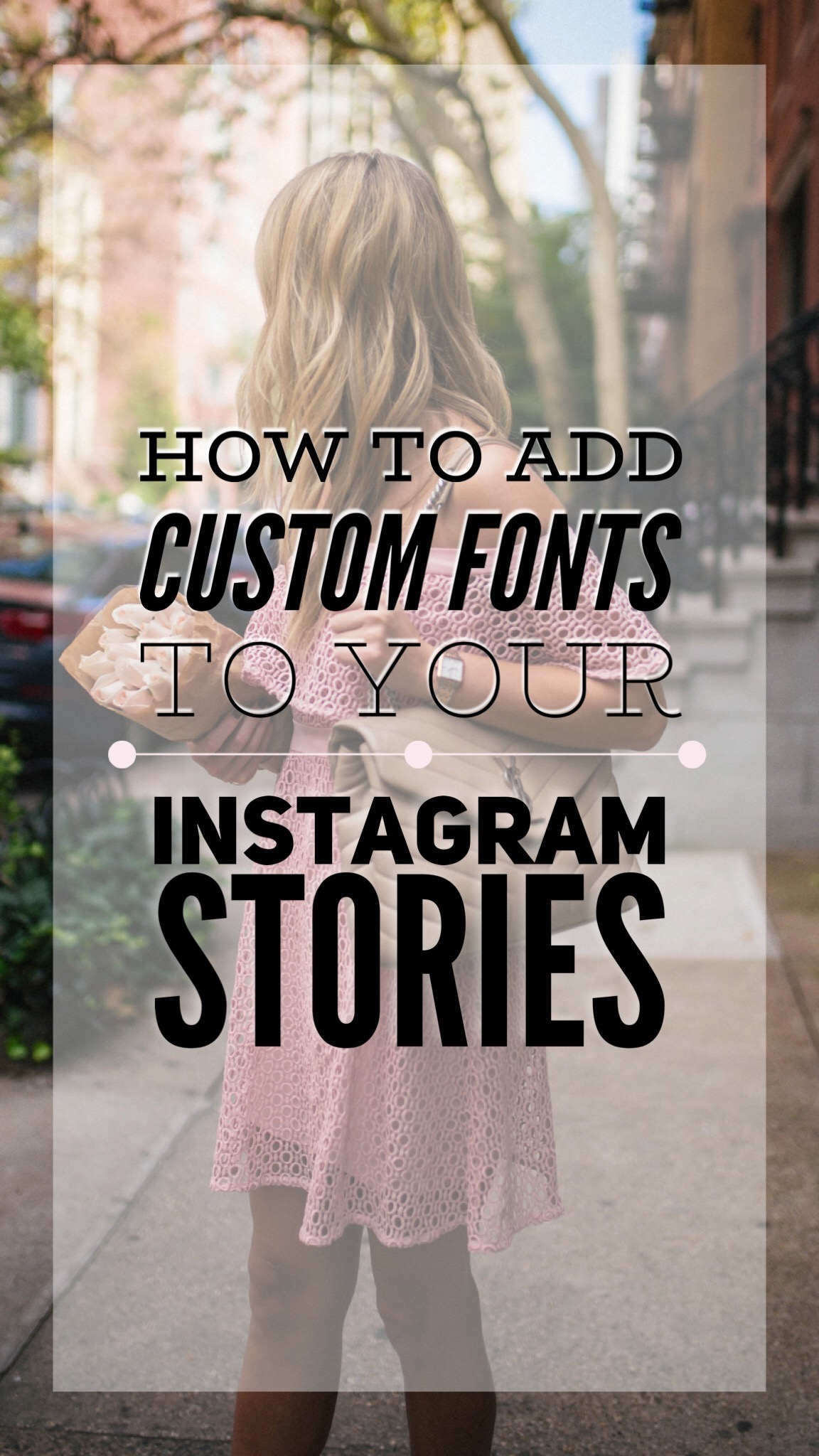 how to add custom fonts to your instagram story