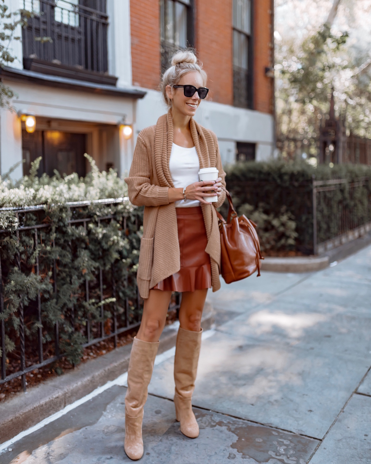 How To Style Short Skirts For Fall Weather Katie S Bliss