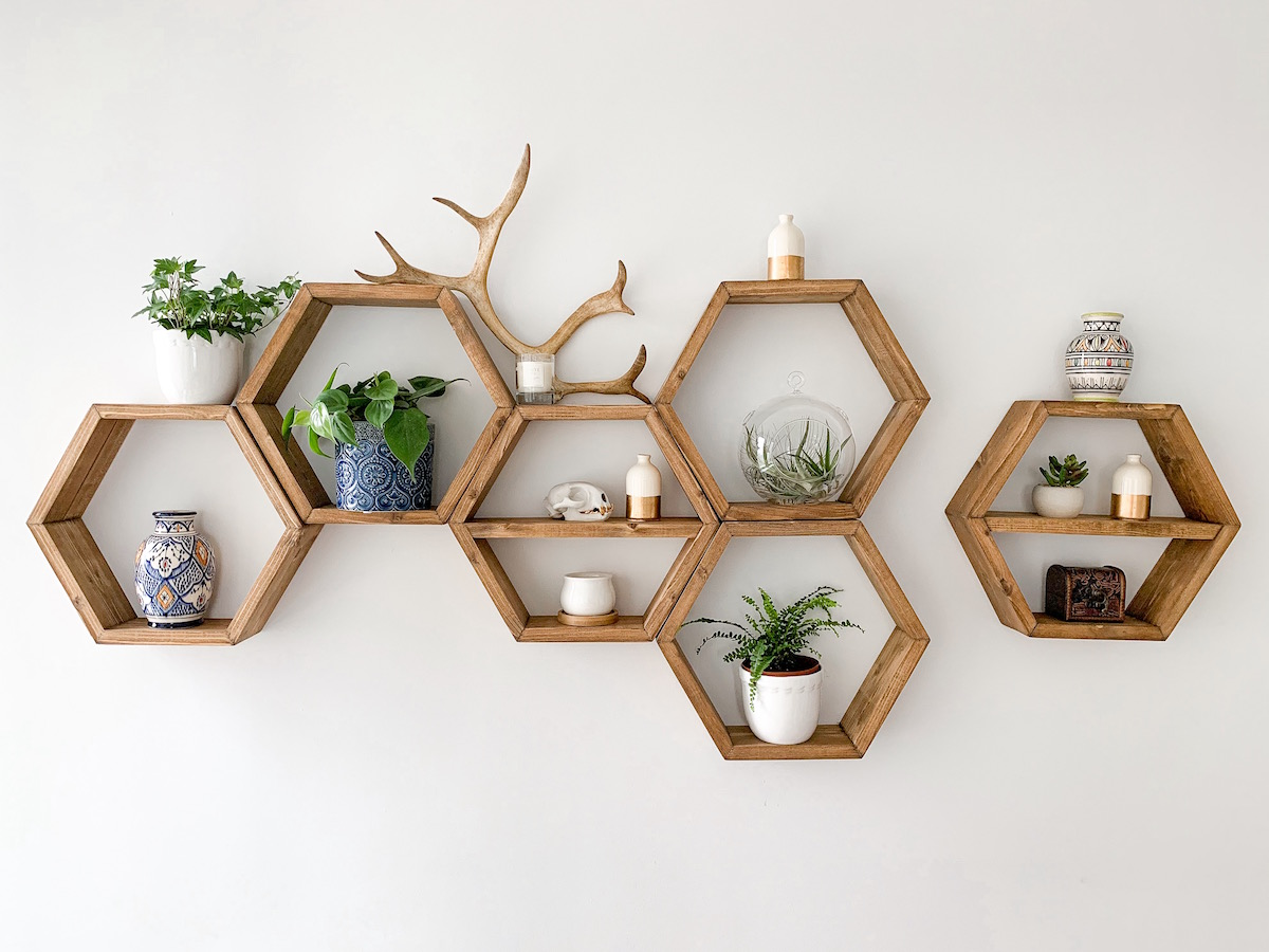 How To Decorate Honeycomb Shelves