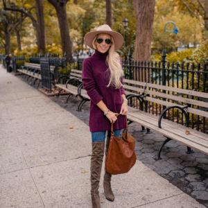 Purple Tunic Sweater
